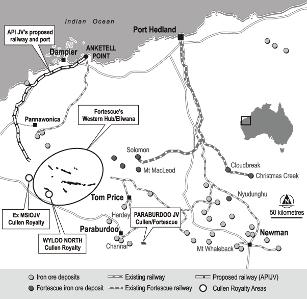 Cullen Resources Limited - Other W A  Projects – Iron Ore Royalties